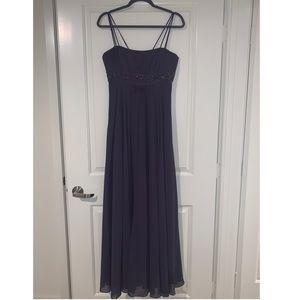 Deep Purple Bridesmaid Dress